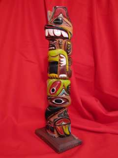 John T Williams totem pole native american indian vtg tiki tribal