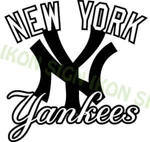 YANKEES Vinyl Decal Sticker NEW YORK YANKEES BASEBALL