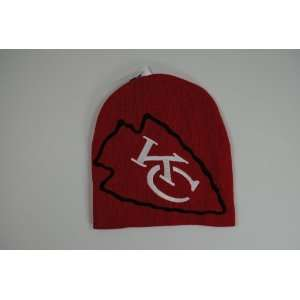 Kansas City Chiefs Red Big Logo Beanie Cap Winter Hat