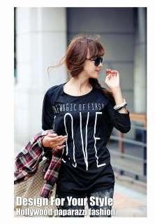 BNWT Stylish Women T shirt Long Sleeve Top LOVE T shirts New Stylish
