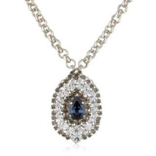 Anton Heunis Grace Kelly Blue And Crystal Medallion Pendant