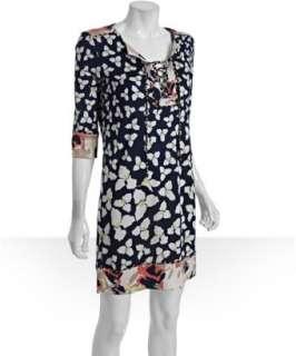 Diane Von Furstenberg falling poppy combo print silk jersey Trella