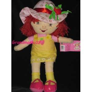 Strawberry Shortcake Yellow Sundress Plush Doll 16 Inches