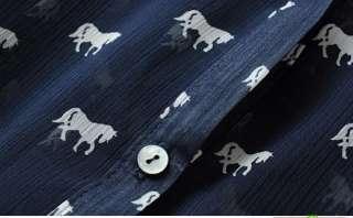 New 2012 Fashion Spring Zara Trf Horse Print Chiffon Women Print Shirt