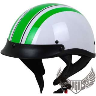 Black Dark Flag Motorcycle Half Helmet DOT APPROVED Harley Custom ~ S