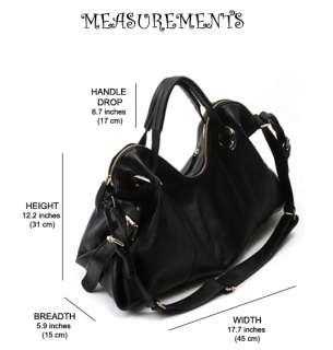 IN KOREA] NEW Genuine Leather Shoulder Tote Hand Bag Purse   SYDNEY