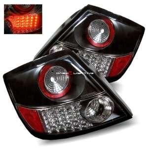 04 07 Scion tC LED Tail Lights   Black Automotive