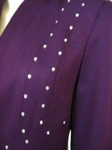 Purple RHINESTONE Studded Mother of Bride Special Occasion Church