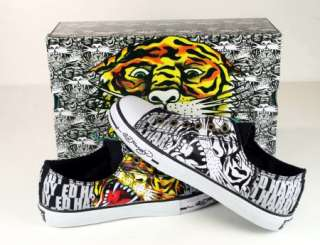 ED Hardy Men DETROIT Beautiful Ghost TIGER Shoes