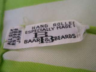 VINTAGE silk scarves sash scarf BAAR BEARDS hand roll