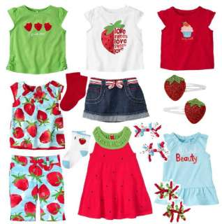 2T GYMBOREE Strawberry Dress Outfit Shirt Spring Summer Clothes LOT