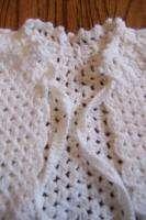 BABY GIRL WHITE CROCHET KNIT DRESS PONCHO SHAWL SWEATER