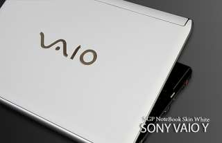 Sony VAIO Y Series Laptop Cover Skin   White Leather