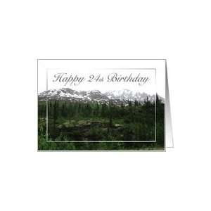 Mountain Range   24th Birthday Card Card Toys & Games