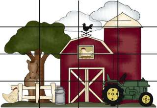 FARM BARNYARD ANIMAL NURSERY WALL MURAL STICKERS DECALS