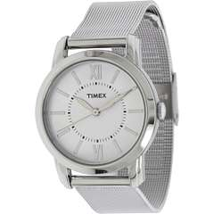 Timex Elevated Classics   Steel Mesh Strap/White Dial