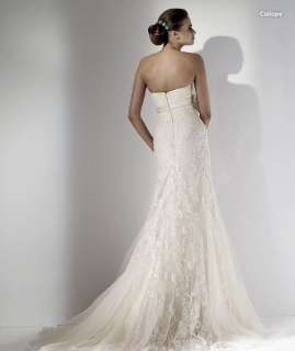 made Strapless Lace Wedding Dress Bridal Gown Free Size NEW