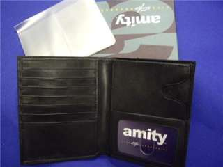 Amity Executive Tall Mens Hipster Leather Wallet  Black