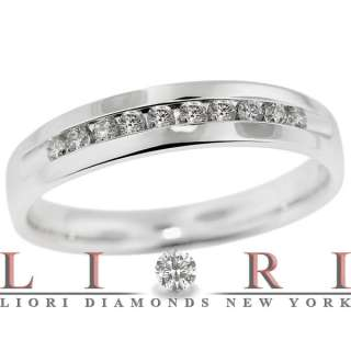 30 CT. ROUND DIAMOND WEDDING RING BAND 14K WHITE GOLD