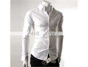 COOL Mens Casual Slim Fit Dress Shirts 4color 3size PJ