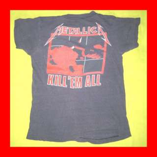 1985 METALLICA WILD OATS VTG TOUR T SHIRT FADED SOFT OG