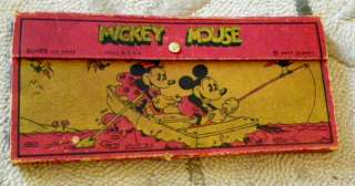 ART DECO ANTIQUE 1930s Mickey MINNIE Mouse Pencil BOX