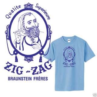 Zig Zag blue T shirt stoner hippie college retro S 3XL