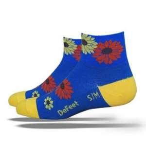 DeFeet Womens AirEator Les Fleurs Cycling/Running Socks
