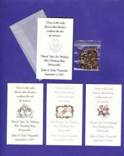 WEDDING Bridal THANK YOU Favors ~FLOWER SEED ENVELOPES~