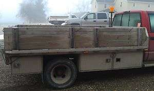 FLAT BED STAKE BODY 10.5 x 7.5 CHASSIS TRUCK TOOL BOX SERVICE