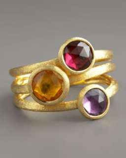 O5003 Marco Bicego Jaipur Three Stone Ring, Citrine