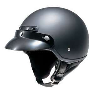 HJC CS 2M Open Face Motorcycle Helmet Flat Black Extra