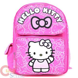 Sanrio Hello Kitty School Backpack 14 Medium Bag  Pink Glittering