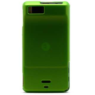 Green Snap On Hard Shell Case Cover Motorola Droid X