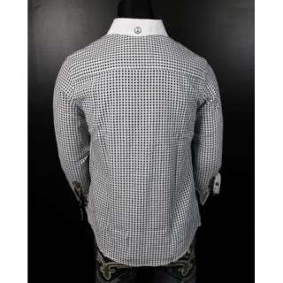 NEW JOHN LENNON English Laundry Shirt SPEEDWAY CLUB in White JLW1239
