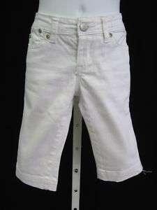 TRACTOR JEANS Girls White Denim Shorts Capris Size 7