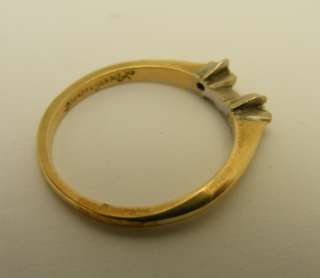 14Kt Solid Yellow Gold Diamond Ring Guard Wedding Band