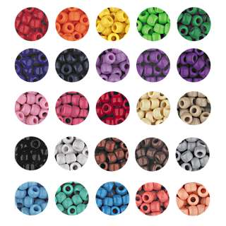 OPAQUE CROW BEADS PONY BEADS 6x9mm 30 solid colors!