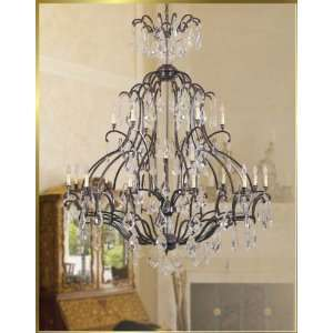 Wrought Iron Chandelier, JB 7027, 21 lights, Bronze, 60