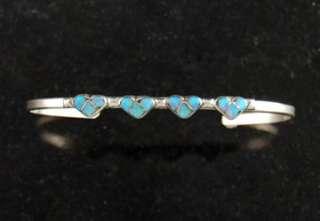 Zuni Cuff Bracelet Sterling Silver .925 Native American Jewelry