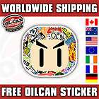 THE SHOCKER HAND sticker bombed and ready for action, car sticker JDM