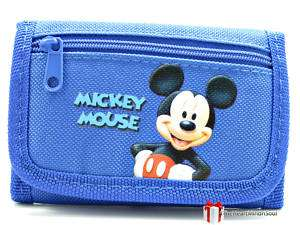 Disney MICKEY MOUSE Blue Trifold Wallet