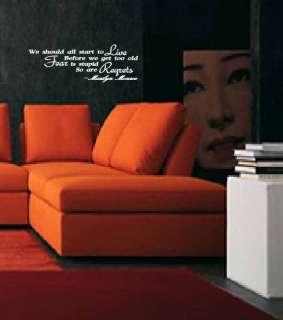 Marilyn Monroe   Vinyl Wall Quote Decal  Modern Home Decor Sticker