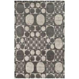 Soho Collection 6 Feet Handmade New Zealand Wool Square Area Rug, Grey