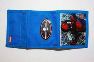 NWT MARVEL SPIDERMAN Trifold Wallet 100% Authentic BLUE