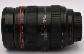 CANON EF 24 70mm F/2.8 24 70mm 12.8 L USM Lens W/BOX/CASE/HOOD/MANUAL