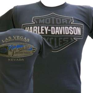 Davidson Las Vegas Dealer Tee T Shirt Bar & Shield GRAY XL #RKS