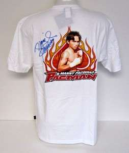 Manny Pacquiao Boxing Autographed No Fear T Shirt SI