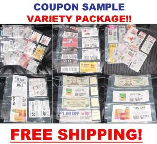 COUPON BINDER SLEEVES PAGES Organizer Holder SAMPLE PACK! 9p, 8p, 6p