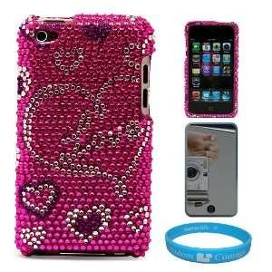 Premium Two Piece Pink Love Heart Rhinestone Design